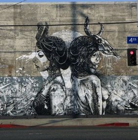 Mural at SciArc - Arts District, Downtown Los Angeles