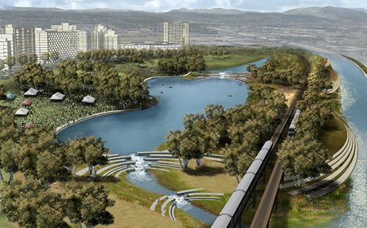 Rendering from LA River Revitalization Master Plan.