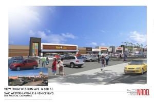 Western & Venice Shopping Center Renovation Rendering